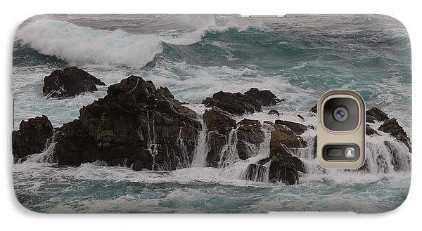 Galaxy Case featuring the photograph Standing Up To The Waves by Suzanne Luft