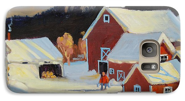 Galaxy Case featuring the painting Stanley Kay Farm by Len Stomski