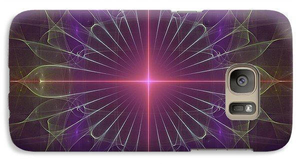 Galaxy Case featuring the digital art Star 1 by Ursula Freer