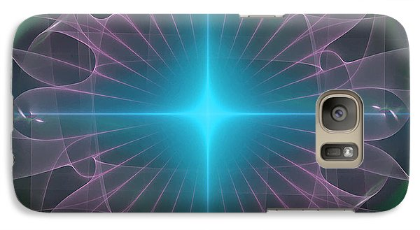 Galaxy Case featuring the digital art Star 2 by Ursula Freer