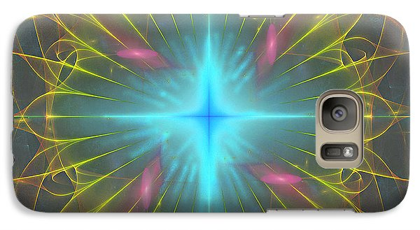 Galaxy Case featuring the digital art Star 4 by Ursula Freer