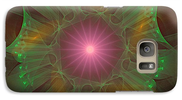 Galaxy Case featuring the digital art Star 6 by Ursula Freer
