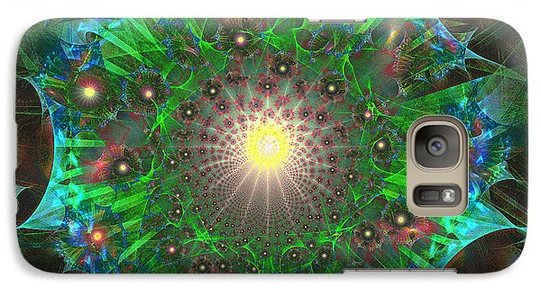 Galaxy Case featuring the digital art Star 9 by Ursula Freer