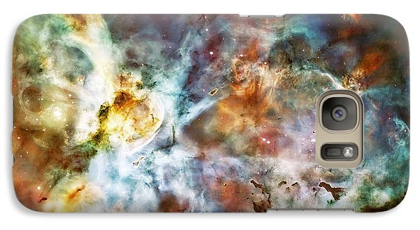 Star Birth In The Carina Nebula  Galaxy S7 Case by Jennifer Rondinelli Reilly - Fine Art Photography