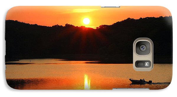 Galaxy Case featuring the photograph Star Burst Sunset by Lorna Rogers Photography