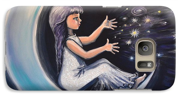 Galaxy Case featuring the painting Celestial Games by Agata Lindquist