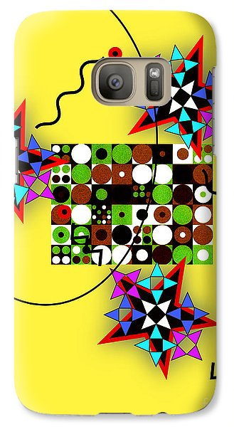 Galaxy Case featuring the digital art Star Circle Triangle Design by Christine Perry