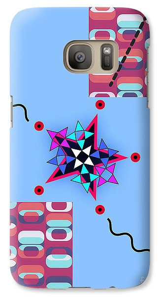 Galaxy Case featuring the digital art Star Design by Christine Perry