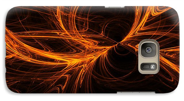 Galaxy Case featuring the digital art Star Fire One by A Dx