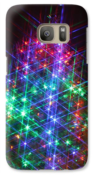 Galaxy Case featuring the photograph Star Like Christmas Lights by Patrice Zinck