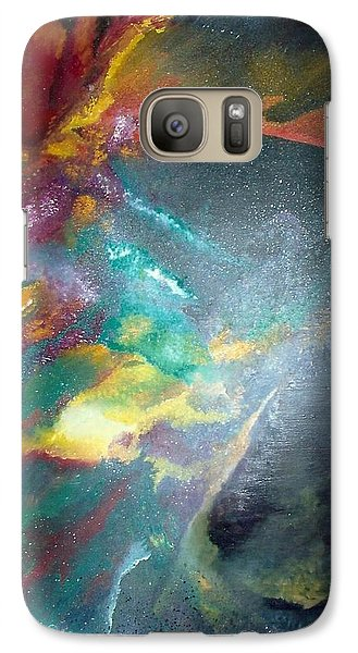 Galaxy Case featuring the painting Star Nebula by Carrie Maurer