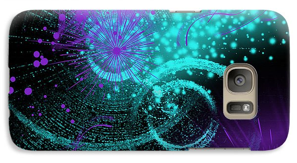 Galaxy Case featuring the digital art Star Party by Hanza Turgul