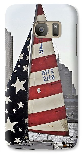 Galaxy Case featuring the photograph Star Spangled Sail  by Lilliana Mendez