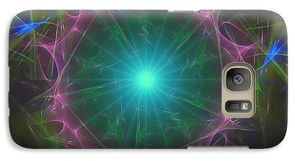 Galaxy Case featuring the digital art Star System 7 by Ursula Freer