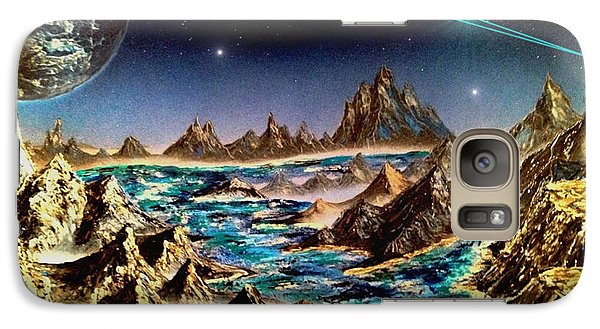 Galaxy Case featuring the painting Star Trek - Orbiting Planet by Michael Rucker