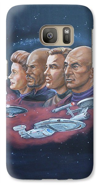 Galaxy Case featuring the painting Star Trek Tribute Captains by Bryan Bustard