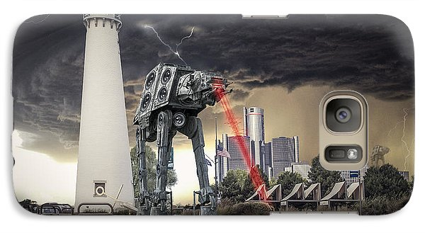 Galaxy Case featuring the photograph Star Wars All Terrain Armored Transport by Nicholas  Grunas