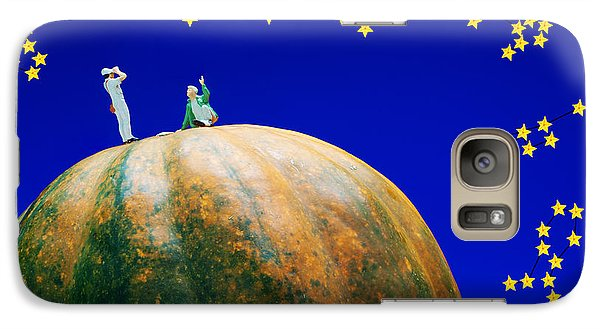 Galaxy Case featuring the photograph Star Watching On Pumpkin Food Physics by Paul Ge