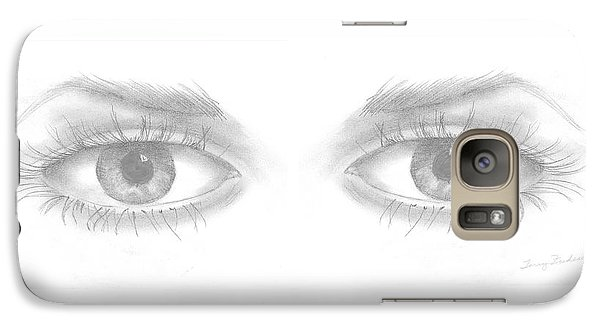 Galaxy Case featuring the drawing Stare by Terry Frederick
