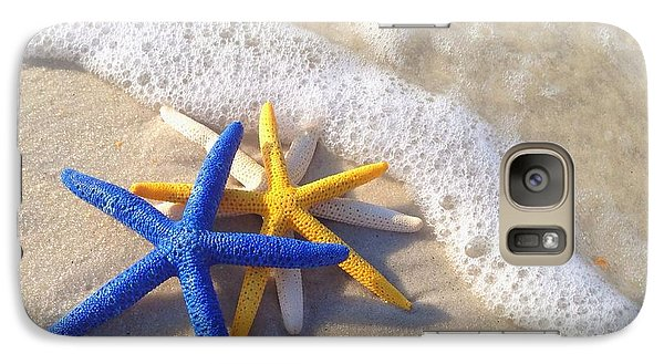 Galaxy Case featuring the photograph Starfish In The Surf by Elizabeth Budd