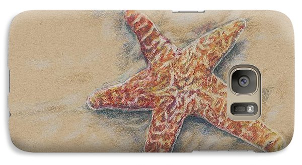 Galaxy Case featuring the drawing Starfish Study by Meagan  Visser
