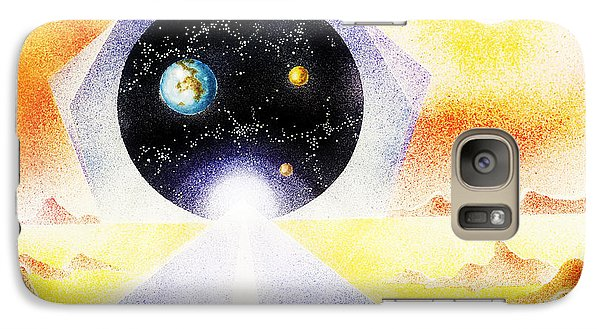 Galaxy Case featuring the painting Stargate by Hartmut Jager