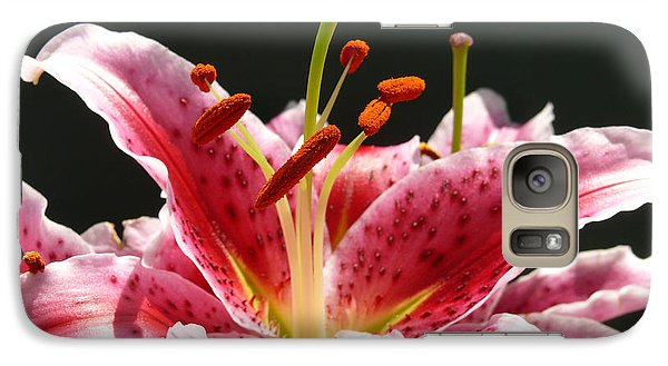 Galaxy Case featuring the photograph Stargazer Lily by Maria Janicki