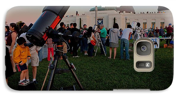 Galaxy Case featuring the photograph Stargazers At Dusk - Griffith Observatory Los Angeles California by Ram Vasudev