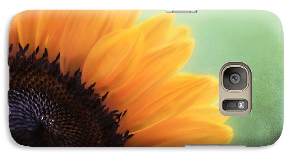 Sunflower Galaxy S7 Case - Staring Into The Sun by Amy Tyler