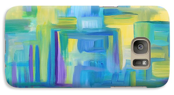Galaxy Case featuring the painting Starry Night Abstract by Stacey Zimmerman
