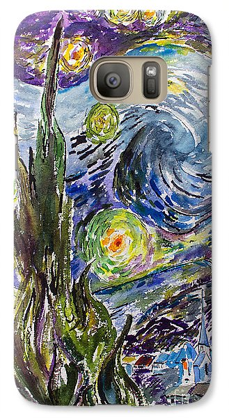 Galaxy Case featuring the painting Starry Night After Vincent Van Gogh by Ginette Callaway