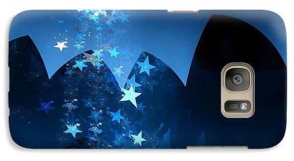 Galaxy Case featuring the digital art Starry Night by GJ Blackman
