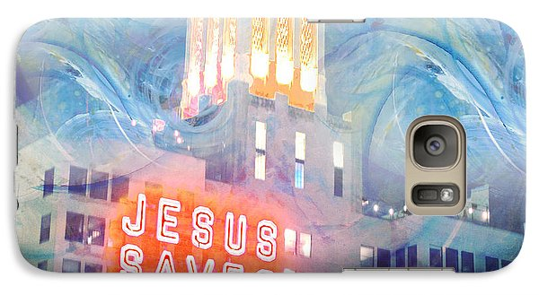 Galaxy Case featuring the painting Starry Night Indowntown La by John Fish