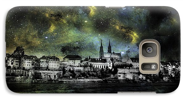 Galaxy Case featuring the photograph Starry Night Over Basel Switzerland by James Bethanis