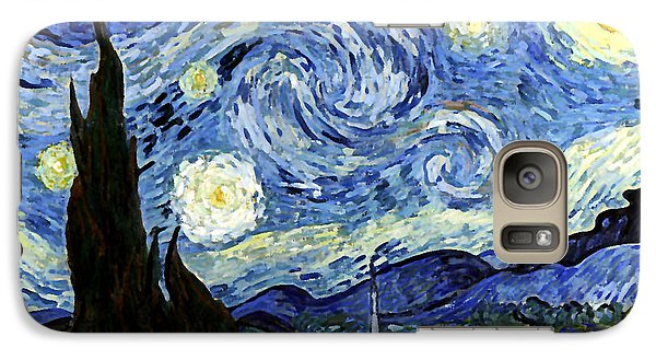 Galaxy Case featuring the digital art Starry Night Reproduction Art Work by Vincent van Gogh