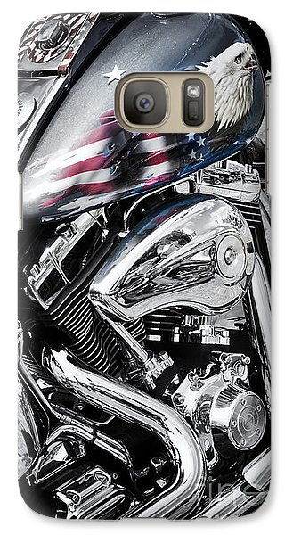 Stars And Stripes Harley  Galaxy S7 Case
