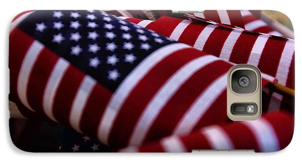 Galaxy Case featuring the photograph Stars And Stripes by John S