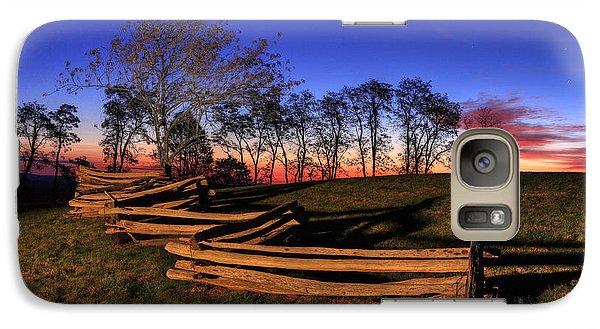 Stars At Sunrise On The Blue Ridge Galaxy Case by Dan Carmichael
