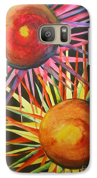 Galaxy Case featuring the painting Stars With Colors by Chrisann Ellis