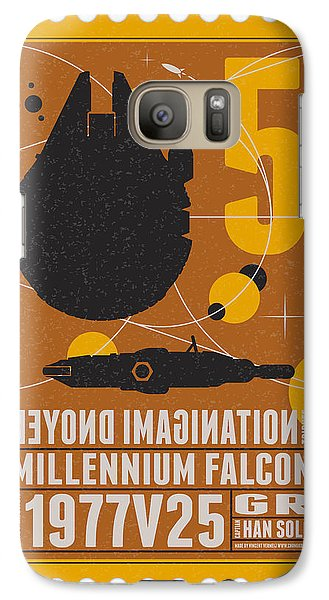 Falcon Galaxy S7 Case - Starschips 05-poststamp -star Wars by Chungkong Art