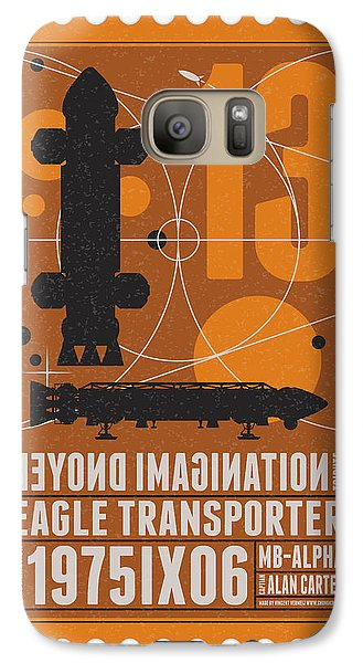 Science Fiction Galaxy S7 Case - Starschips 13-poststamp - Space 1999 by Chungkong Art