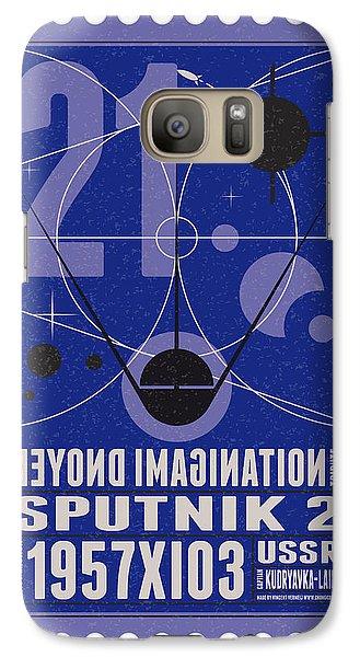 Science Fiction Galaxy S7 Case - Starschips 21- Poststamp - Sputnik 2 by Chungkong Art