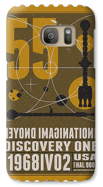 Science Fiction Galaxy S7 Case - Starschips 55-poststamp -discovery One by Chungkong Art