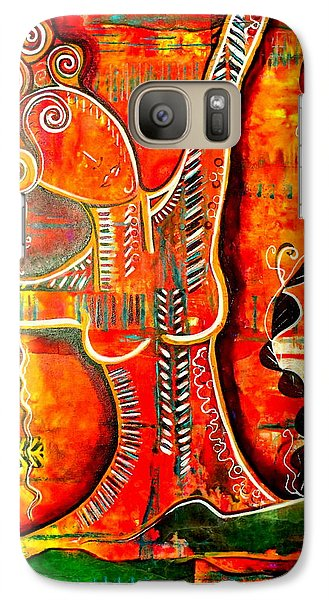 Galaxy Case featuring the painting Starting Again by Julie  Hoyle