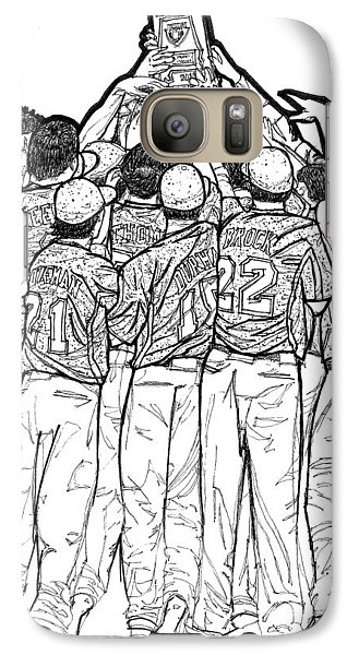 Galaxy Case featuring the drawing State Champions by Calvin Durham