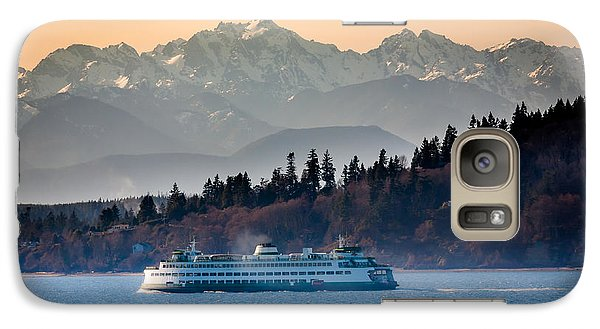 Mountain Galaxy S7 Case - State Ferry And The Olympics by Inge Johnsson