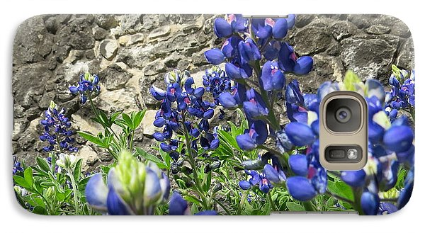Galaxy Case featuring the photograph State Flower Of Texas - Bluebonnets by Ella Kaye Dickey