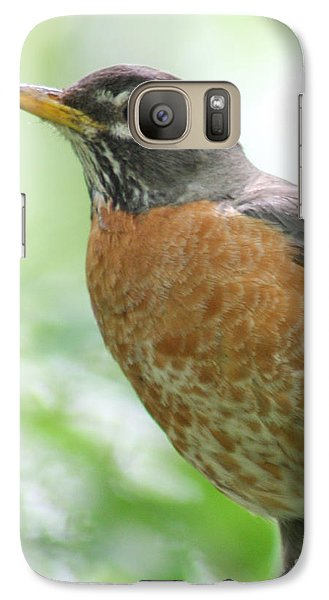 Galaxy Case featuring the photograph Stately Robin by Anita Oakley