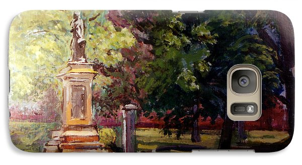 Galaxy Case featuring the painting Statue In  Landscape by Stan Esson
