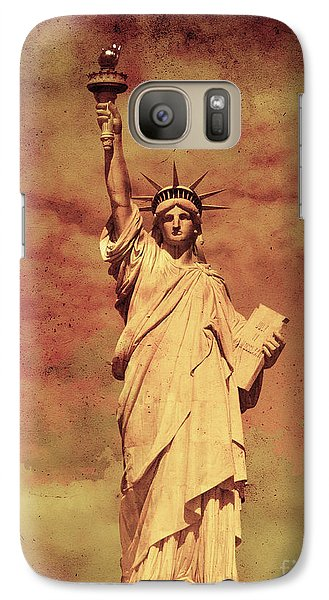 Galaxy Case featuring the photograph Statue Of Liberty by Mohamed Elkhamisy